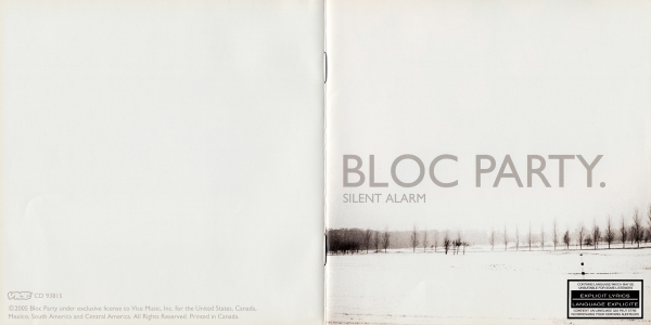 Bloc Party Silent Alarm cover art