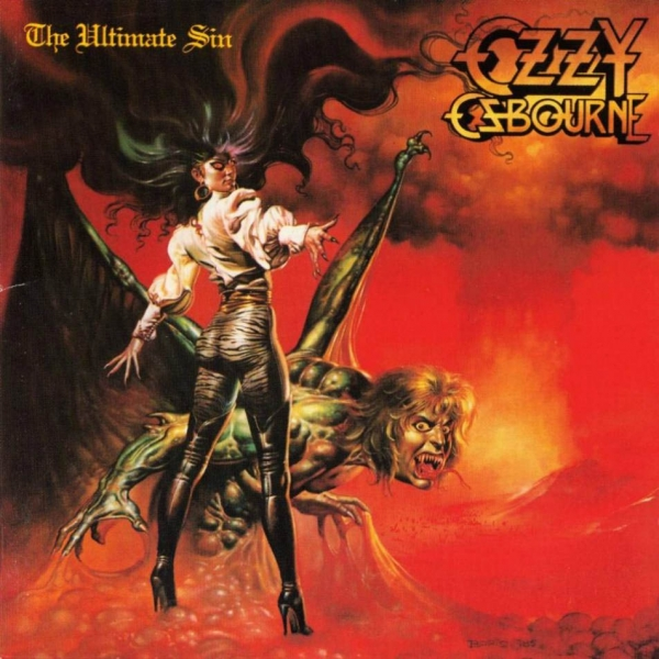 Ozzy Osbourne The Ultimate Sin Cover Art