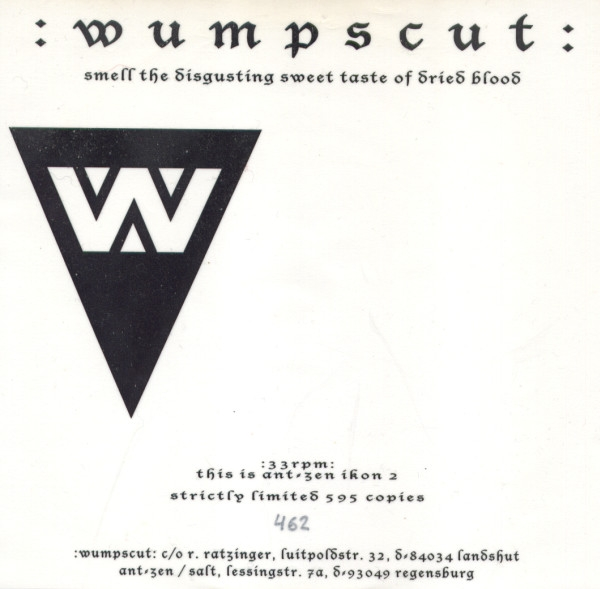 :wumpscut: Smell the Disgusting Sweet Taste of Dried Blood Cover Art
