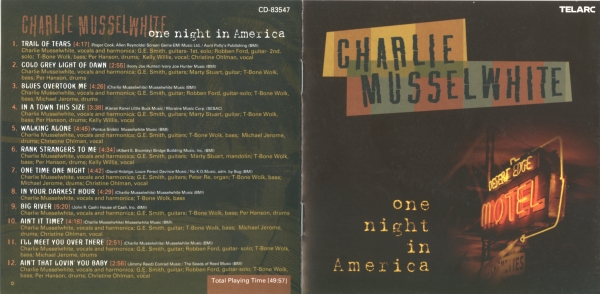 Charlie Musselwhite One Night in America Cover Art