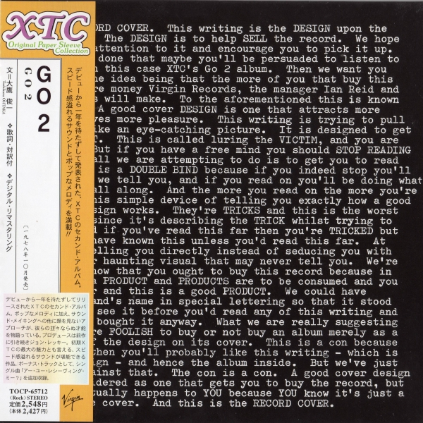 Xtc Go 2 cover art