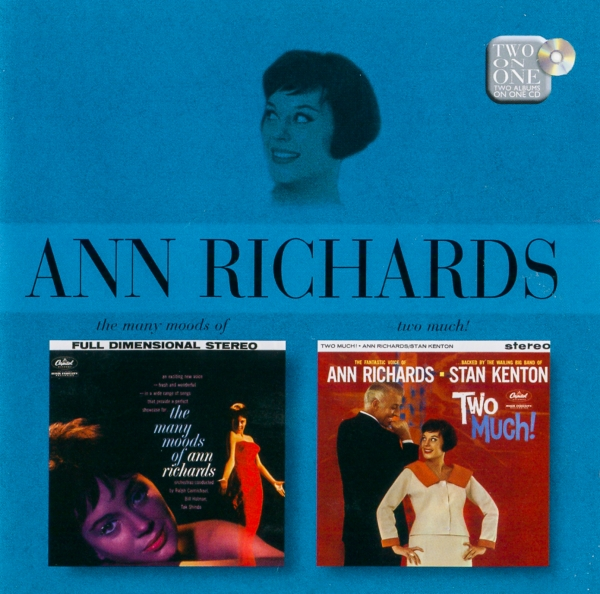 Ann Richards Many Moods of.. & Two Much Cover Art
