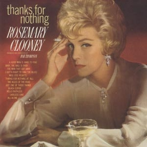 Rosemary Clooney Thanks for Nothing cover art