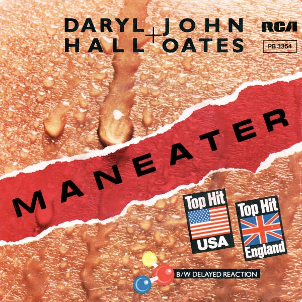 Hall & Oates Maneater Cover Art