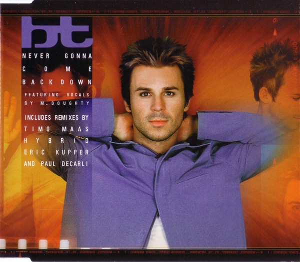 BT feat. M. Doughty Never Gonna Come Back Down Cover Art