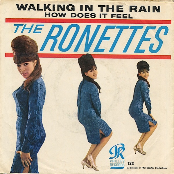 The Ronettes Walking in the Rain / How Does It Feel? Cover Art