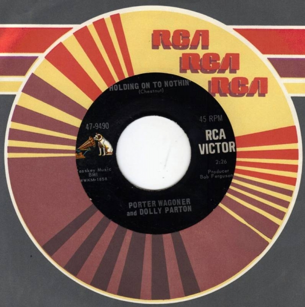 Porter Wagoner & Dolly Parton Just Between You and Me / Holding On to Nothin' Cover Art