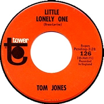 Tom Jones Little Lonely One / That's What We'll All Do Cover Art