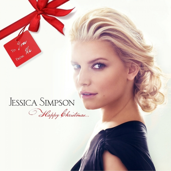Jessica Simpson Happy Christmas Cover Art