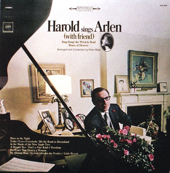 Harold Arlen Harold Sings Arlen (With Friend) Cover Art