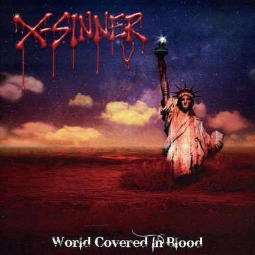 X-Sinner World Covered in Blood Cover Art