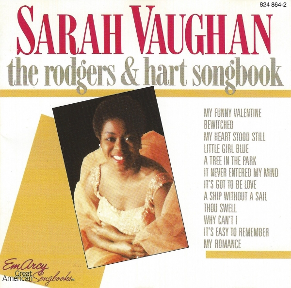 Sarah Vaughan The Rodgers & Hart Songbook Cover Art