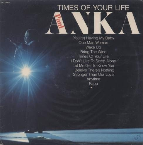 Paul Anka Times of Your Life Cover Art