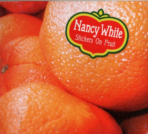 Nancy White Stickers on Fruit Cover Art