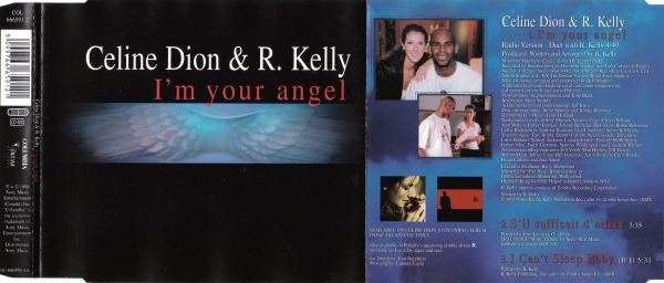 Céline Dion & R. Kelly I'm Your Angel Cover Art