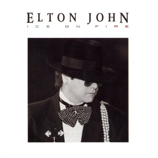Elton John Ice on Fire cover art