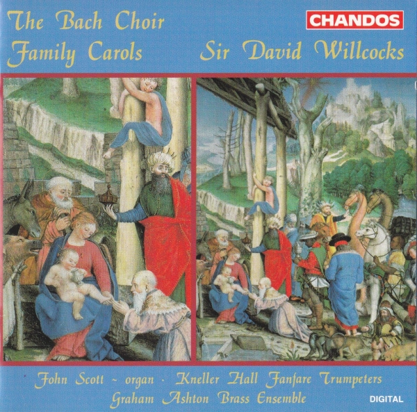 The Bach Choir, Fanfare Trumpeters of the Royal Military School of Music, Graham Ashton Brass Ensemble, Sir David Willcocks Family Carols Cover Art