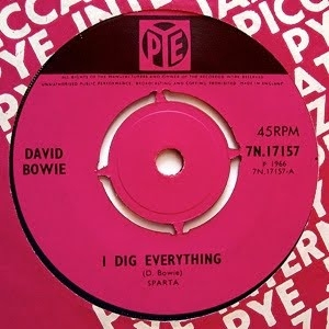 David Bowie I Dig Everything / I'm Not Losing Sleep Cover Art