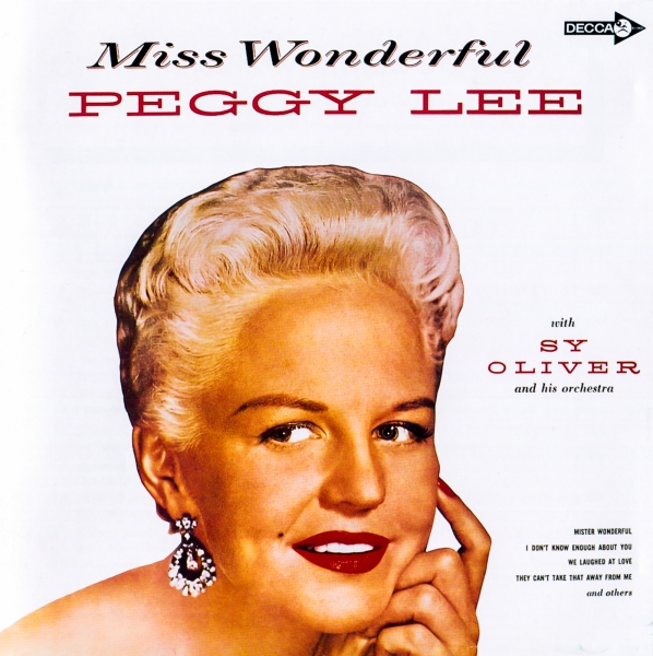 Peggy Lee Miss Wonderful Cover Art
