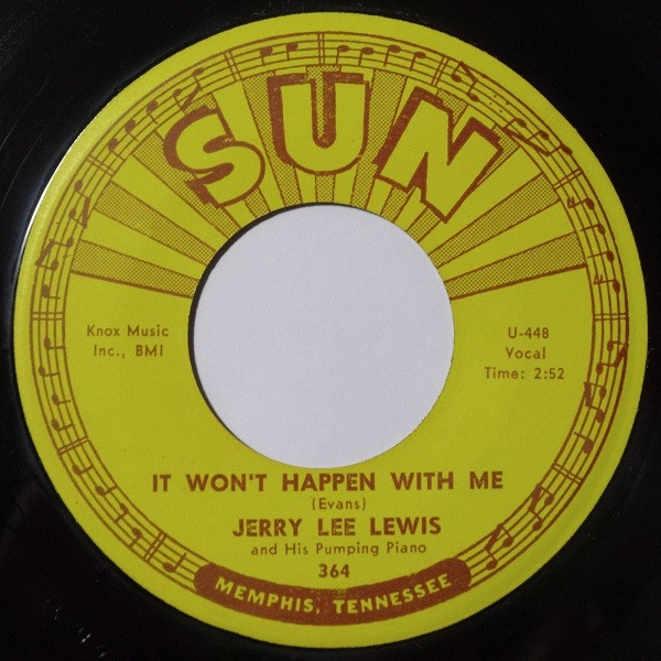 Jerry Lee Lewis and His Pumping Piano It Won't Happen With Me / Cold Cold Heart Cover Art