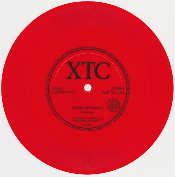XTC Looking for Footprints Cover Art