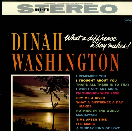 Dinah Washington What a Diff'rence a Day Makes! Cover Art