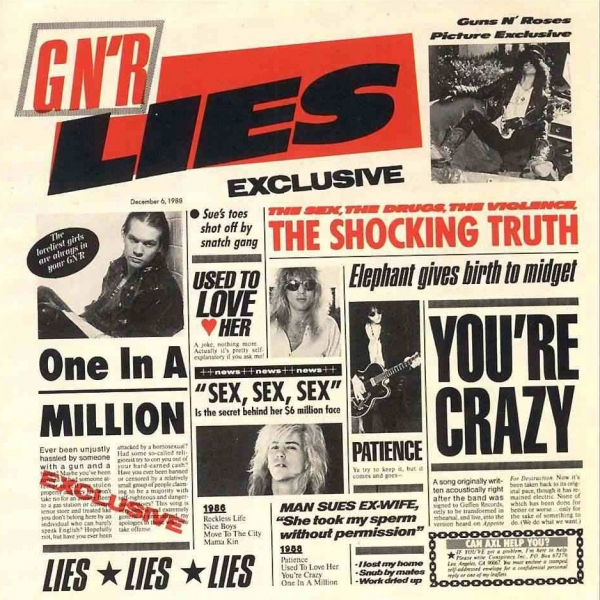 Guns N' Roses G N' R Lies cover art