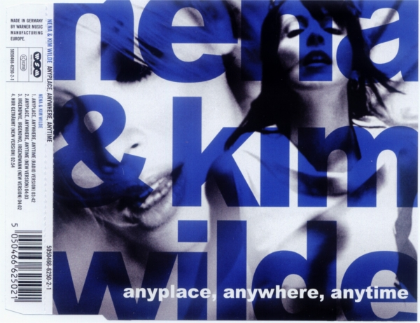 Nena & Kim Wilde Anyplace, Anywhere, Anytime Cover Art