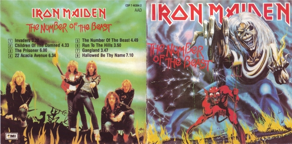 Iron Maiden The Number of the Beast cover art