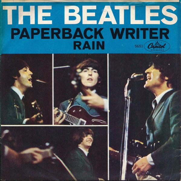 The Beatles Paperback Writer / Rain cover art
