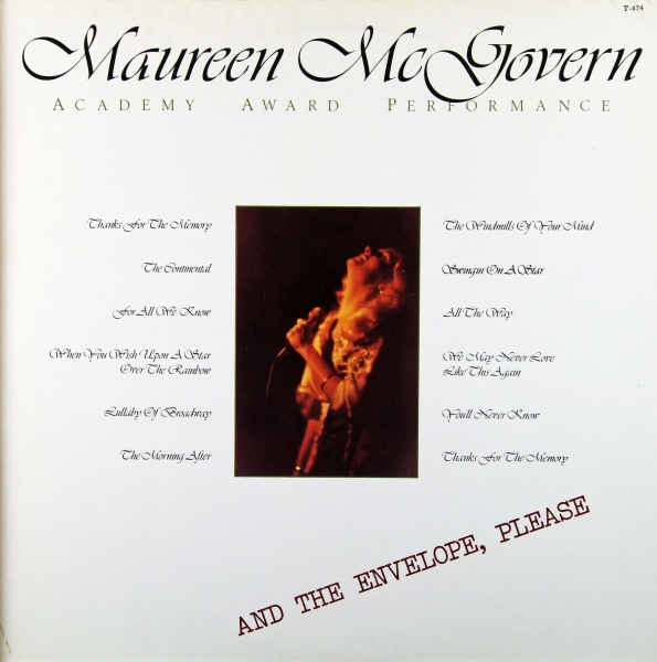 Maureen McGovern Academy Award Performance Cover Art