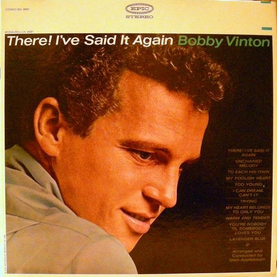 Bobby Vinton There! I've Said It Again Cover Art