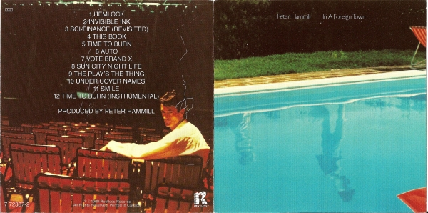 Peter Hammill In a Foreign Town Cover Art