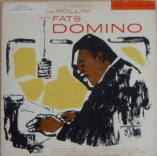 Fats Domino Rock and Rollin' With Fats Domino Cover Art