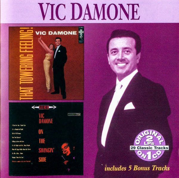 Vic Damone That Towering Feeling / On the Swingin' Side cover art