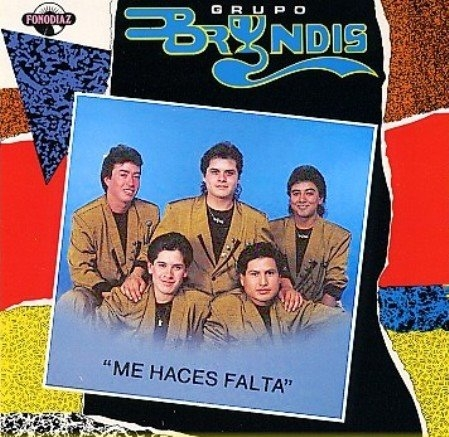 Grupo Bryndis Me Haces Falta Cover Art