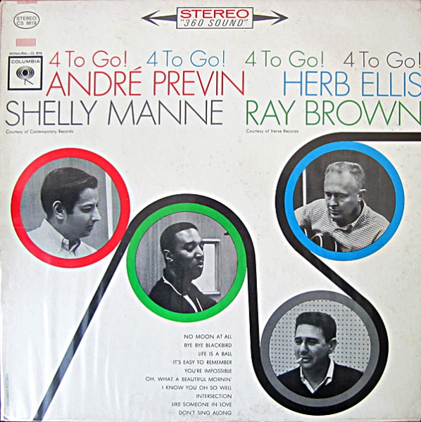 André Previn, Herb Ellis, Shelly Manne, Ray Brown 4 to Go Cover Art