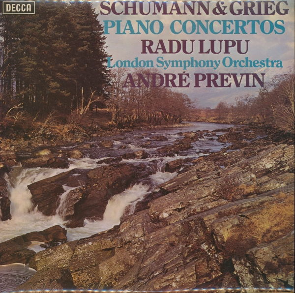 Schumann, Grieg; Radu Lupu, LSO, André Previn Piano Concertos Cover Art