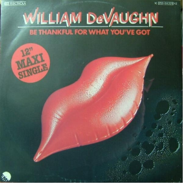 William DeVaughn Be Thankful for What You've Got Cover Art