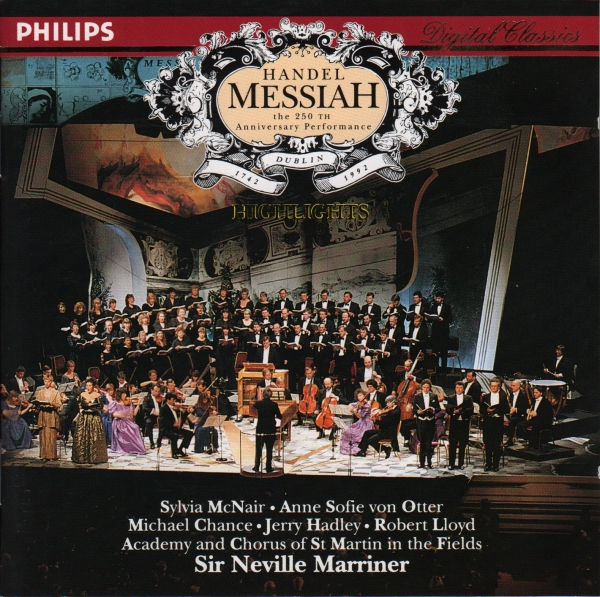 George Frideric Handel Messiah: The 250th Anniversary Performance cover art
