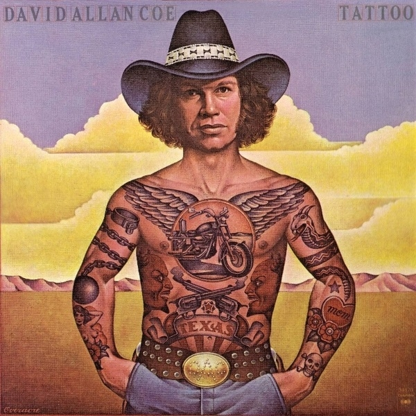David Allan Coe Tattoo cover art
