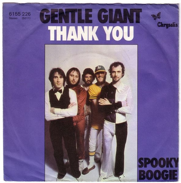 Gentle Giant Thank You / Spooky Boogie Cover Art