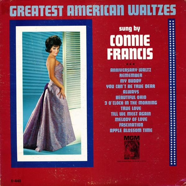 Connie Francis Greatest American Waltzes cover art