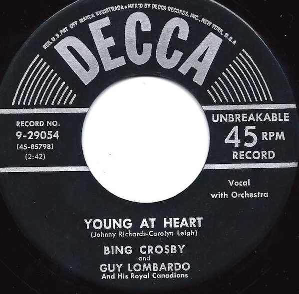 Bing Crosby and Guy Lombardo And His Royal Canadians Young At Heart / (Oh Baby Mine) I Get So Lonely Cover Art