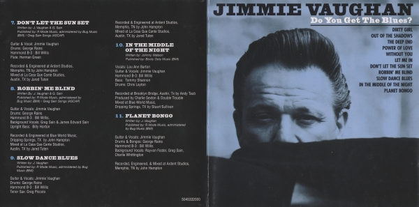 Jimmie Vaughan Do You Get the Blues? cover art