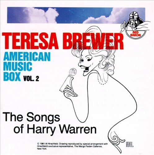 Teresa Brewer American Music Box Vol. 2: The Songs Of Harry Warren cover art