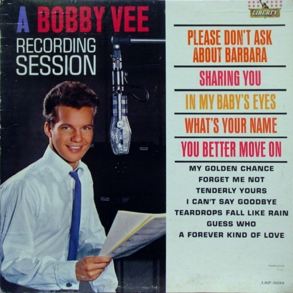Bobby Vee A Bobby Vee Recording Session cover art