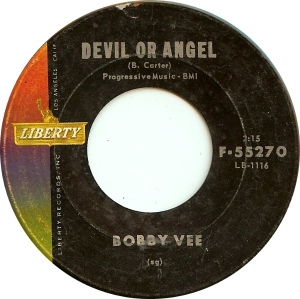 Bobby Vee Devil or Angel / Since I Met You Baby Cover Art
