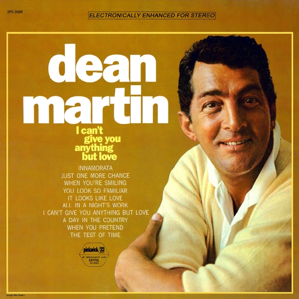 Dean Martin I Can't Give You Anything but Love Cover Art