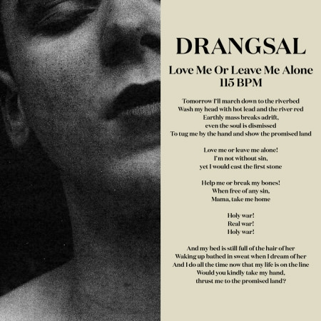 Drangsal Love Me or Leave Me Alone Cover Art
